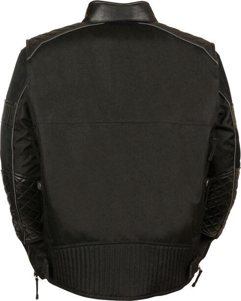 Milwaukee Leather Men's Black Textile Scooter Jacket, Black, hi-res