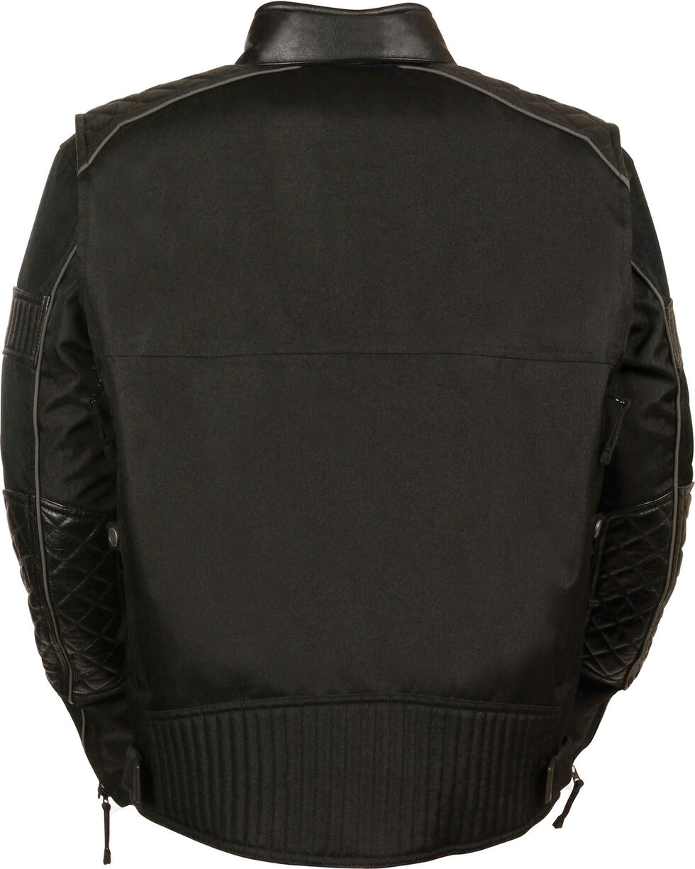 Milwaukee Leather Men's Black Textile Scooter Jacket - 4X, Black, hi-res