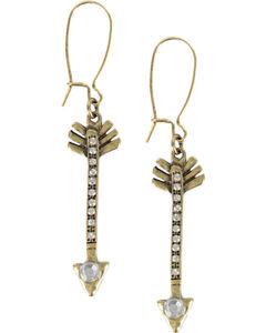 Shyanne Women's Arrow Earrings, Gold, hi-res