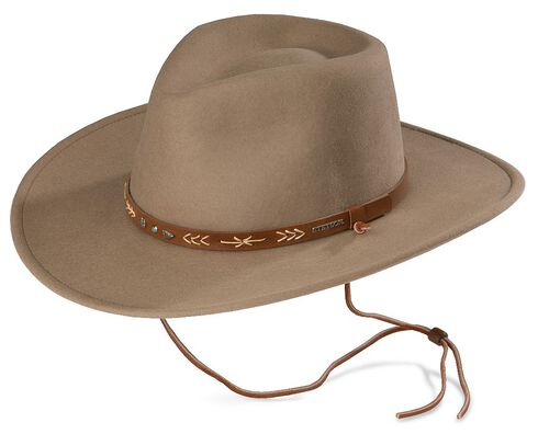 Stetson Santa Fe Crushable Wool Hat, Mushroom, hi-res