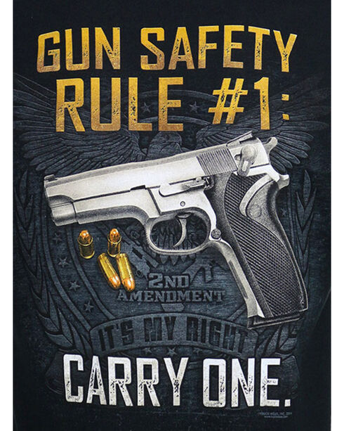Buckwear Men's Gun Safety Rule Tee, Black, hi-res