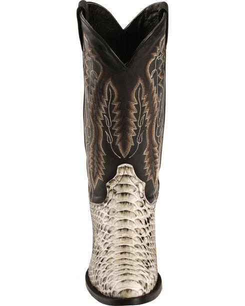 Dan Post Men's Omaha Python Cowboy Boots - Round Toe, Natural, hi-res
