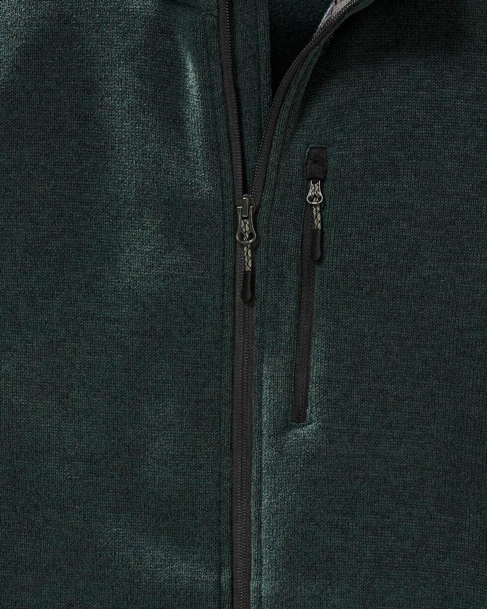 Filson Men's Spruce Ridgeway Fleece Vest , Forest Green, hi-res