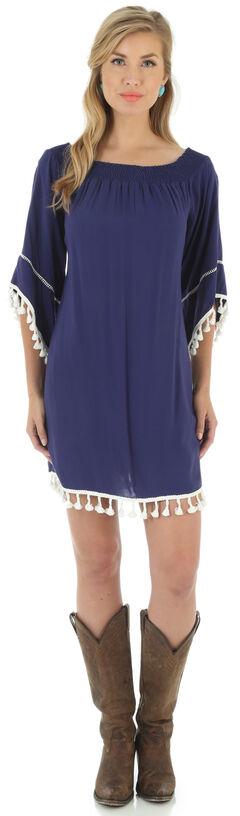 Wrangler Women's Navy Western Fashion Dress, Navy, hi-res