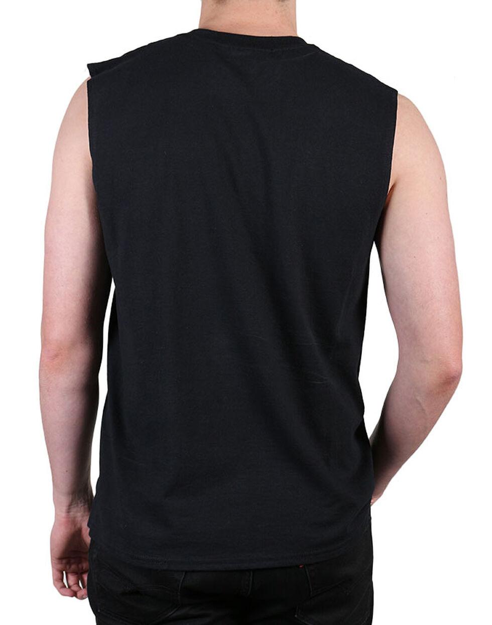 Jack Daniel's Men's Label Sleeveless Tee , Black, hi-res