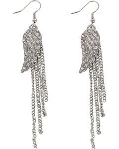 Shyanne Women's Angel Wing Earrings, Silver, hi-res