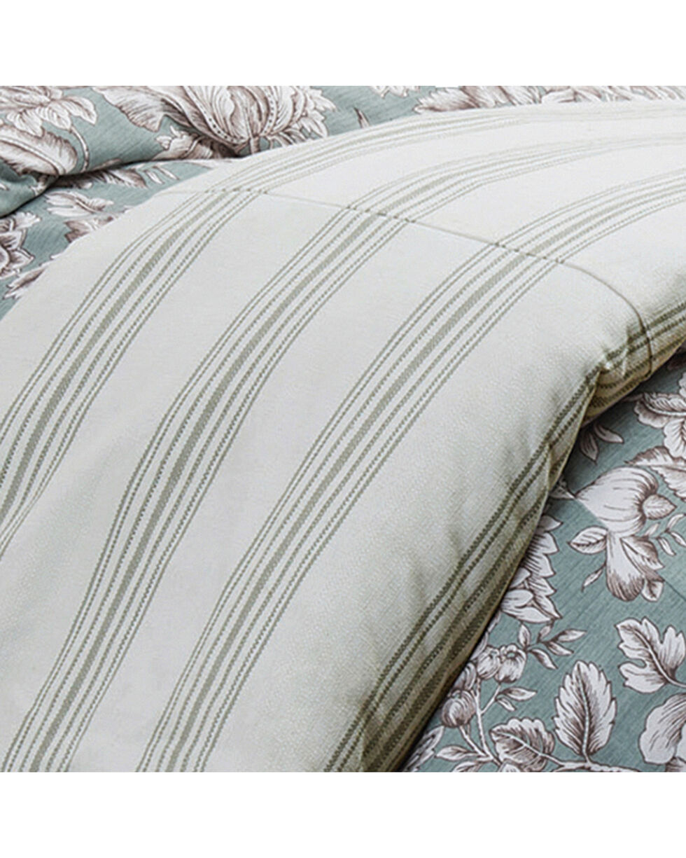 HiEnd Accents Prescott Taupe Stripe Duvet - Super Queen, Multi, hi-res