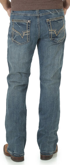 Wrangler Rock 47 Men's Blues Bootcut Jeans, , hi-res