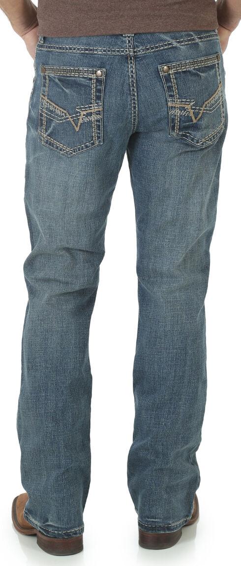 Wrangler Rock 47 Men's Blues Bootcut Jeans, Med Blue, hi-res