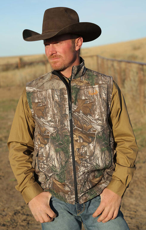 Cinch Men's RealTree Xtra Camo Bonded Vest, Multi, hi-res