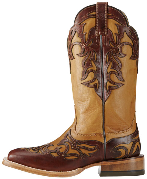 Ariat Biker Brown Women's Performance Cassidy Boots - Wide Square Toe, Brown, hi-res