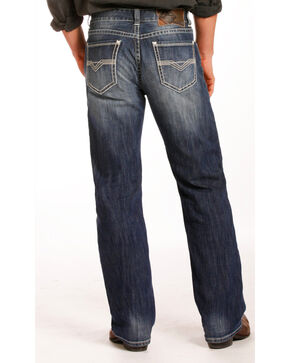 Rock & Roll Cowboy Men's Indigo Reflex Double Barrel Jeans - Straight Leg , Indigo, hi-res