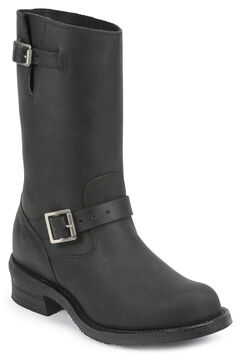 Chippewa Men's 1949 Original Engineer Boots - Round Toe, Black, hi-res