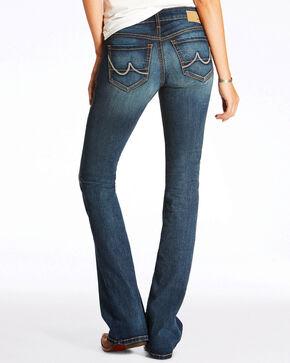 Ariat Women's Blue Crosshatch Ultra Stretch Jeans - Boot Cut , Blue, hi-res