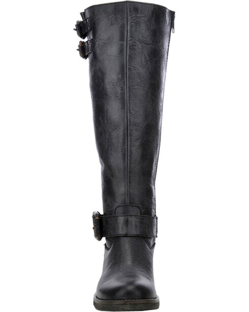 Corral Circle G Tall Engineer Cowgirl Boots - Round Toe, Black, hi-res