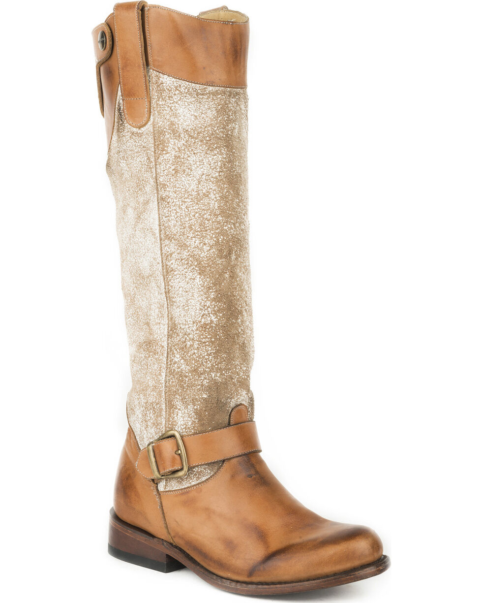 Stetson Women's Brown Mia Western Fashion Boots - Round Toe , Brown, hi-res