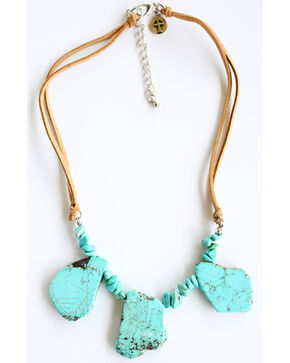 West & Co. Women's Large & Small Turquoise Stone Necklace, Turquoise, hi-res