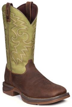 Durango Men's Rebel Coffee & Cactus Western Boots - Square Toe, , hi-res