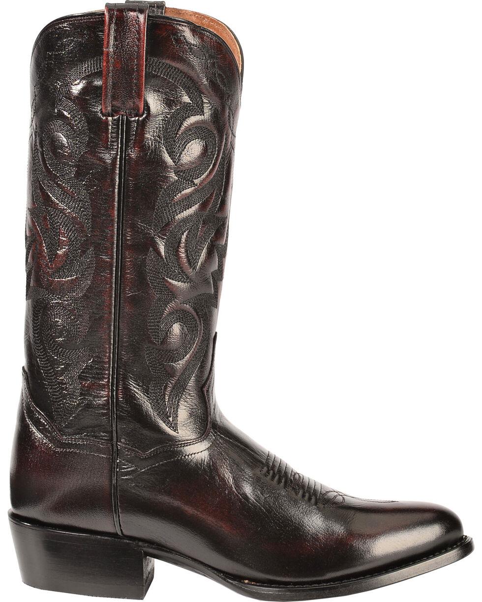 Dan Post Mignon Leather Cowboy Boots - Medium Toe, Black Cherry, hi-res