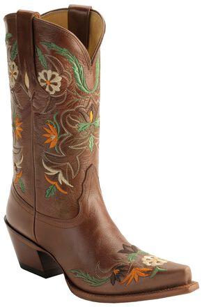 Tony Lama Vaquero Khloe Cowgirl Boots - Snip Toe, Cinnamon, hi-res