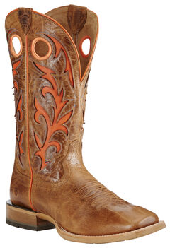 Ariat Dust Brown Barstow Cowboy Boots - Square Toe, , hi-res