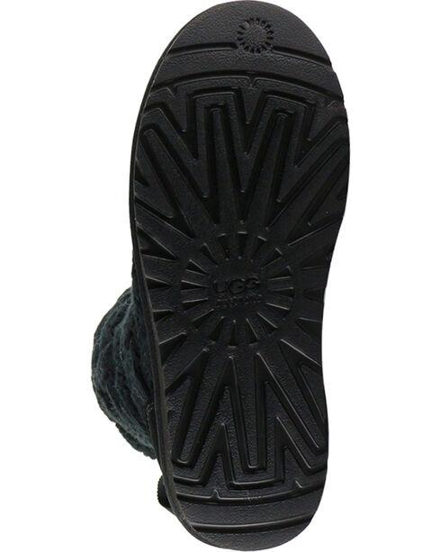 UGG Women's Isla Classic Knit Boots, Black, hi-res