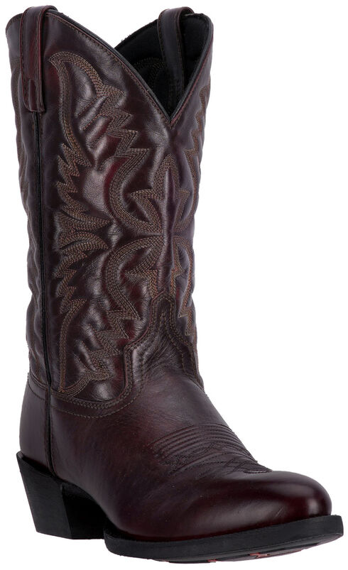 Laredo Birchwood Cowboy Boots - Round Toe , Black Cherry, hi-res