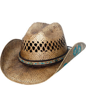 Bullhide Women's Natural Have A Little Faith Straw Hat , Natural, hi-res
