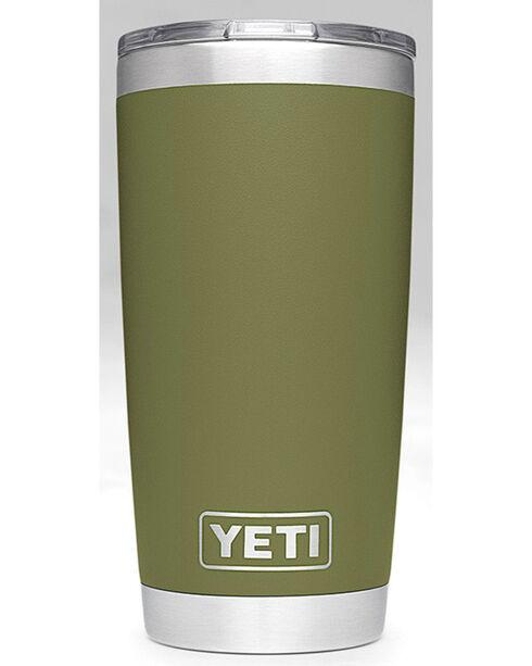 Yeti Olive Green 20oz Sliding Lid Rambler , Olive, hi-res
