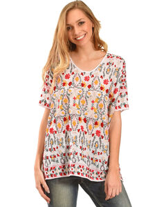 Johnny Was Women's Sibyll Blouse, White, hi-res
