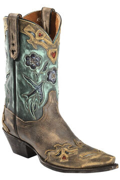 Dan Post Blue Bird Wingtip Cowgirl Boots - Snip Toe, , hi-res