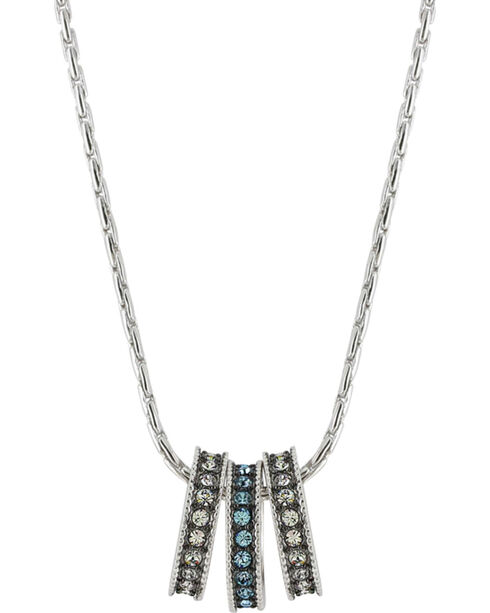 Montana Silversmiths Women's Once In A Blue Moon Necklace , Silver, hi-res