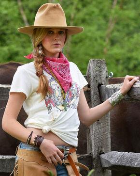 Tasha Polizzi Women's Rodeo Tee Shirt, Ivory, hi-res