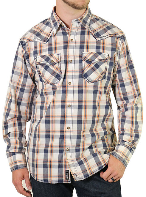 Moonshine Spirit Men's Copper Canyon Western Shirt, White, hi-res