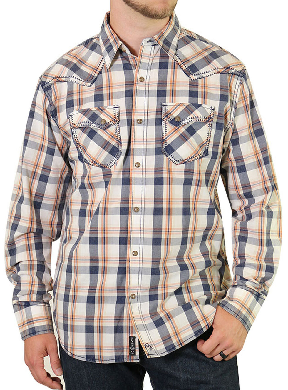 Moonshine Spirit Men's Copper Canyon Western Shirt, White, hi-res