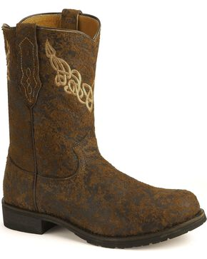 Justin Bent Rail Roper Boots, Brown, hi-res