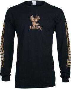 Bucked Up Men's Black Buckskin Logo Long Sleeve Shirt , Black, hi-res