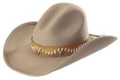Bullhide Pistol Creek Premium Wool Cowboy Hat, Sand, hi-res