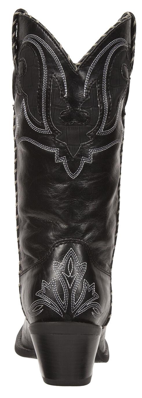 Durango Women's Crush Peek-A-Boot Western Boots - Snip Toe, Black, hi-res