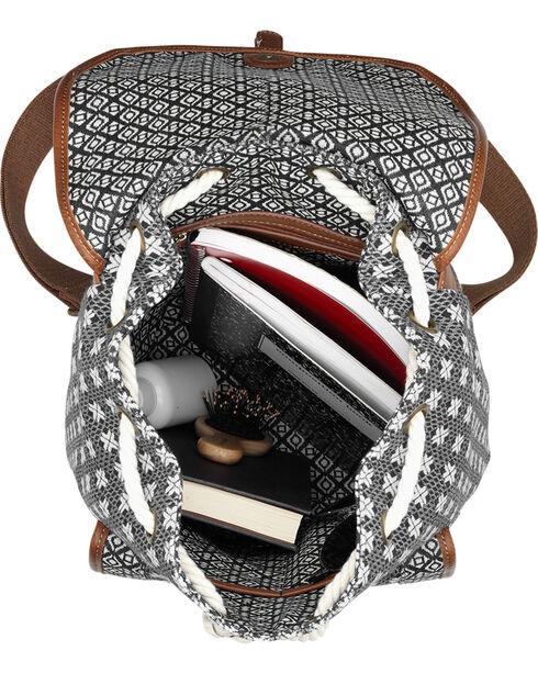 Bandana by American West Santa Fe Drawstring Backpack, Brown, hi-res