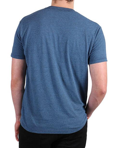 Cody James Men's Bull Bucking T-Shirt, Black/blue, hi-res