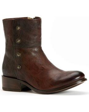 Frye Women's Lynn Military Short Boots - Round Toe, Dark Brown, hi-res