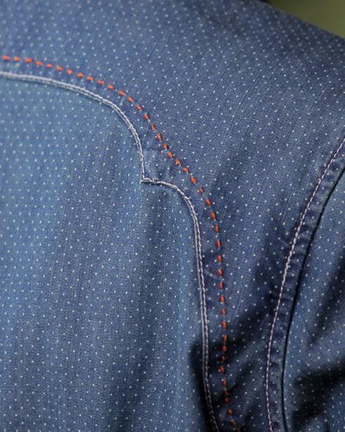 Ryan Michael Women's Denim Dot Print Shirt, Denim, hi-res