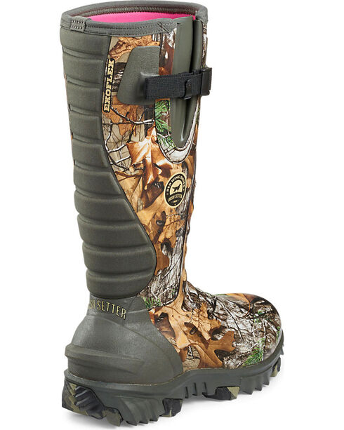 Red Wing Irish Setter Women's Rutmaster Realtree Xtra Insulated Rubber Boots , Camouflage, hi-res