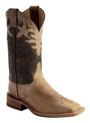 Justin Bent Rail Women's Kenedy Metallic Cowgirl Boots - Square Toe, Beige, hi-res