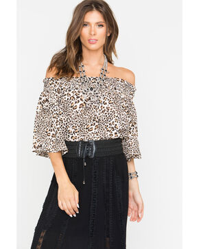 Shyanne Women's Leopard Off The Shoulder Top , Leopard, hi-res