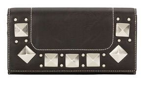Bandana by American West Houston Black Flap Wallet, Black, hi-res