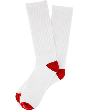 Boot Barn® Youth Crew Sock 3 Pack, White, hi-res