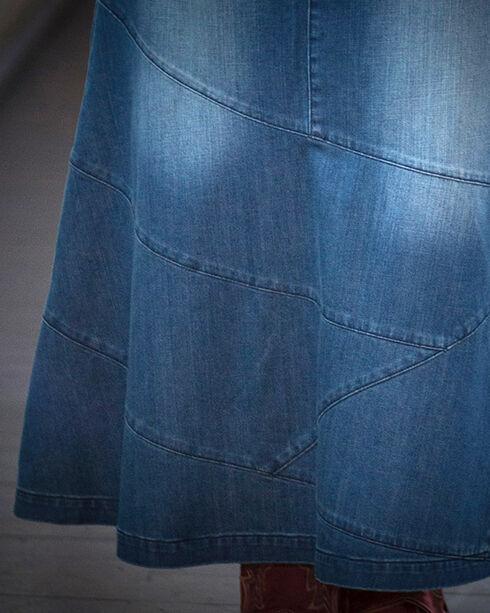 Ryan Michael Women's Long Denim Skirt, Indigo, hi-res