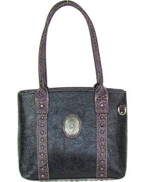 Savana Women's Fierce Tooled Professional Carry Handbag , Black, hi-res
